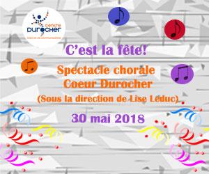 Spectacle de chorale Coeur Durocher