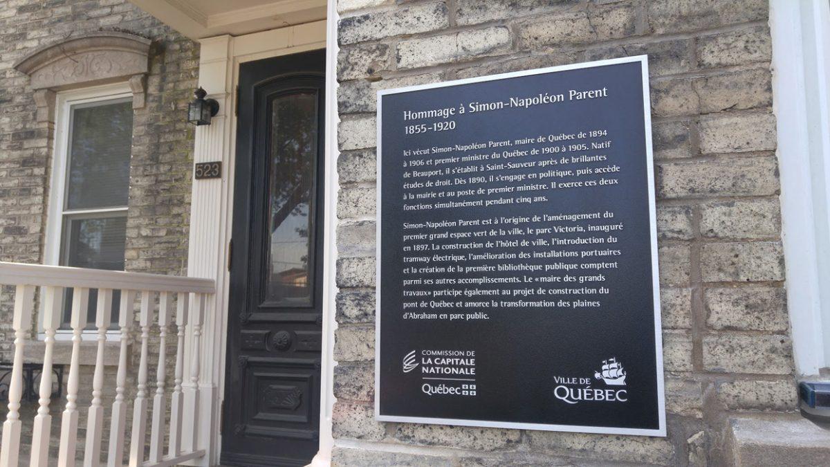 Une plaque commémorative pour Simon-Napoléon Parent   28 juin 2018   Article par Suzie Genest
