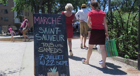 Lancement canon pour la 6e édition du Marché Saint-Sauveur - Véronique Demers