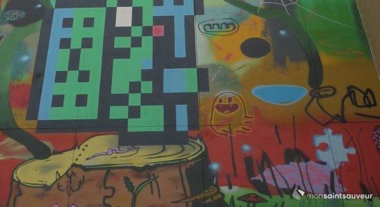 Une murale éclectique pour enjoliver les Habitations Durocher - Véronique Demers