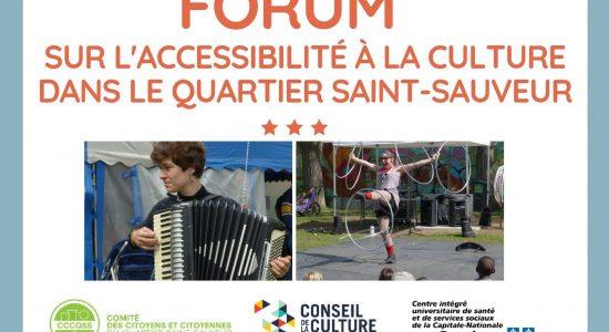 Forum sur l'accessibilité à la culture dans Saint-Sauveur : encore des places disponibles - Vincent Auclair