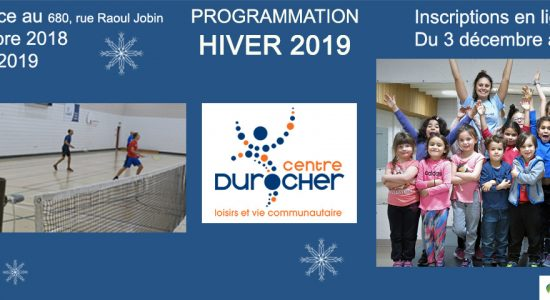 Inscription programmation Hiver 2019