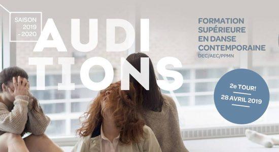 Auditions 2e tour – Formation supérieure en danse contemporaine