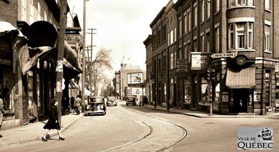 Saint-Sauveur dans les années 1940 (25) : intersection Saint-Vallier, Saint-Joseph et Bagot - Jean Cazes