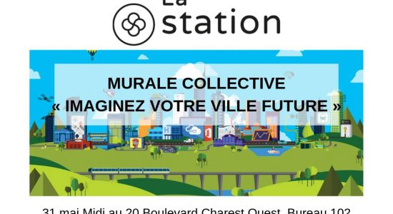 Murale collective : « Imaginez votre ville future »