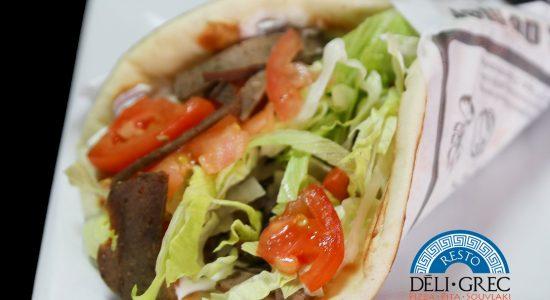 Mercredi assiette pita   Déli Grec