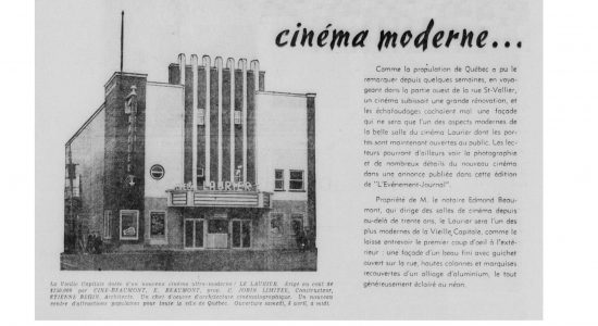 Le théâtre Français et le cinéma Laurier au coin Saint-Vallier-Carillon – 3 de 3 - José Doré