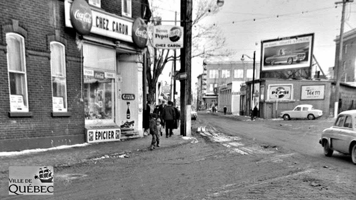Saint-Sauveur dans les années 1960 (30) : Chez Caron, coin D'Argenson et Saint-Joseph Ouest | 24 janvier 2021 | Article par Jean Cazes