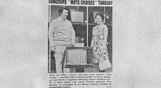 La gagnante du concours de «Mots croisés» Tanguay - Carole Beausoleil