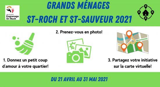 Grands ménages St-Roch et St-Sauveur 2021!
