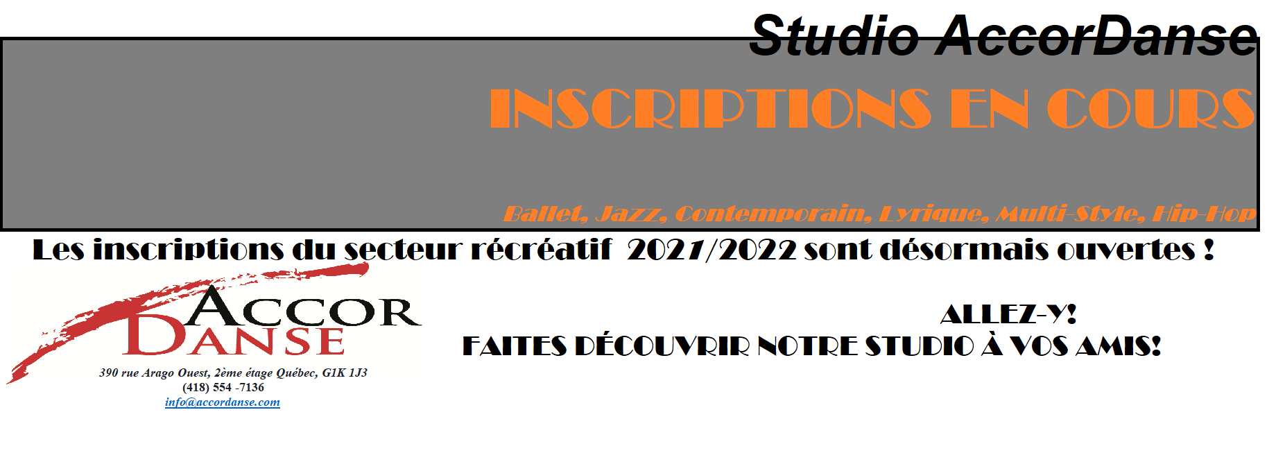 Inscription AccorDanse