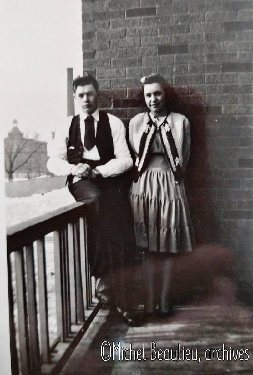 Jeune couple près de La Providence Saint-Malo, 1943.