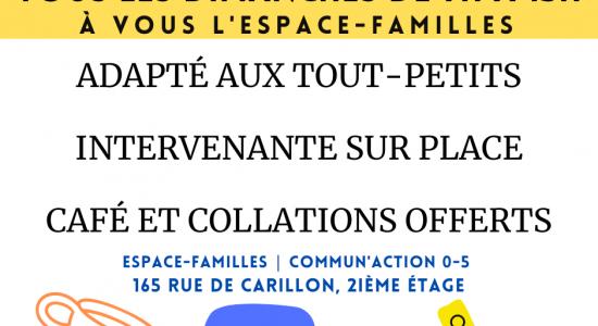 À vous l'Espace-Familles