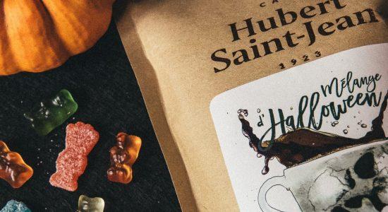 Mélange Halloween de Café Hubert Saint-Jean en dégustation