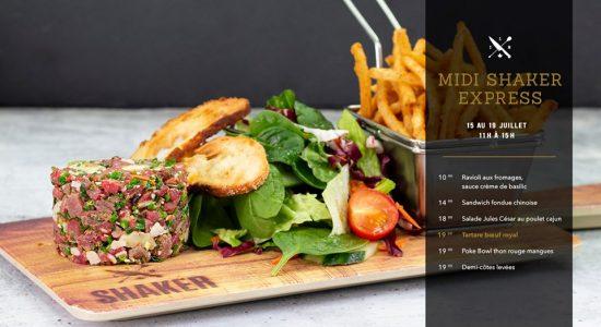 Midi Shaker Express | SHAKER St-Joseph – Cuisine & Mixologie