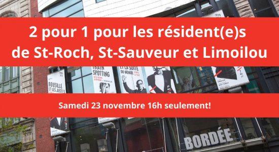 2 pour 1 théâtre de la Bordée | Théâtre La Bordée