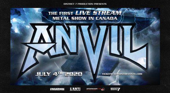 ANVIL – Live stream metal show
