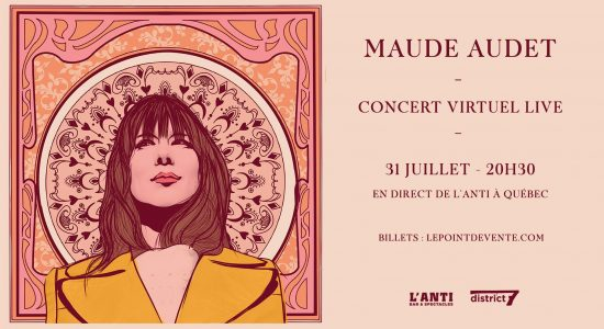 Maude Audet en concert virtuel live