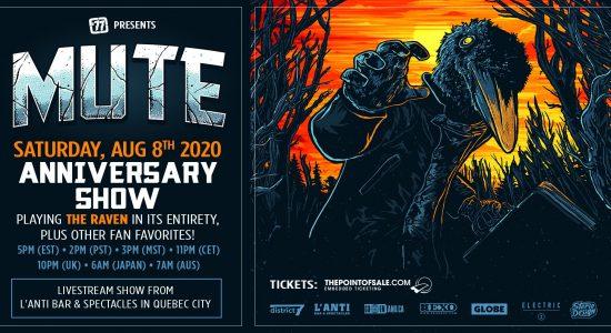 77′ presents MUTE – The Raven anniversary show