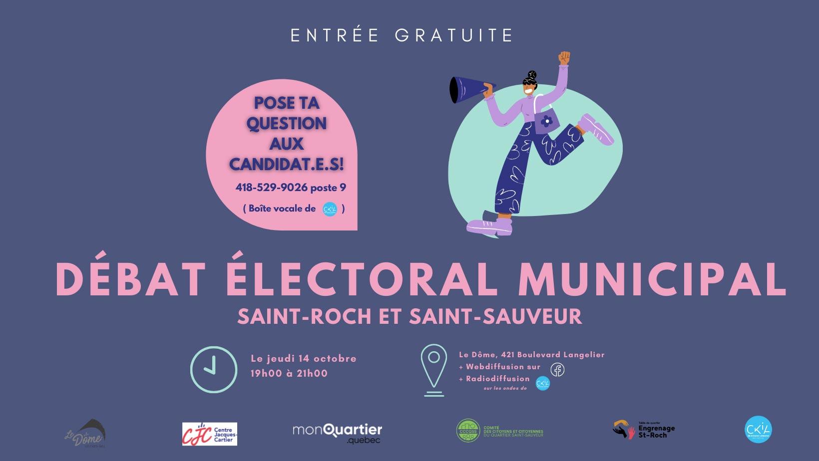 Débat municipal | District Saint-Roch - Saint-Sauveur